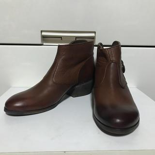 ムーリンセン(mulinsen)のムーリンセン 天然革製ショートブーツブラウン36サイズ3E(ブーツ)