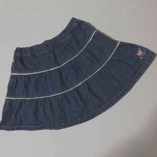 サンカンシオン(3can4on)の3can4on デニム スカート 110(スカート)