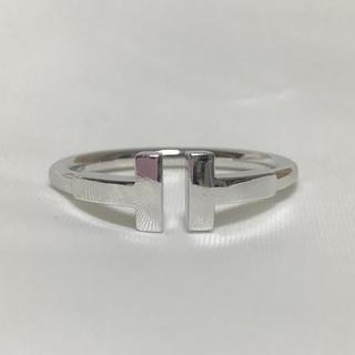 ティファニー(Tiffany & Co.)のティファニー Tワイヤーリング K18WG 10.5号(リング(指輪))