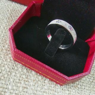 カルティエ(Cartier)の美品Cartier リング男女兼用 7号  シルバー (リング(指輪))