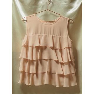ユナイテッドアローズ(UNITED ARROWS)のユナイテッドアローズ ティアードスカート&トップス ピンク色 新品未使用品(その他ドレス)