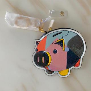 トリーバーチ(Tory Burch)のトリーバーチ ピッグカードケース コインケース バッグチャーム 豚 ぶた(バッグチャーム)