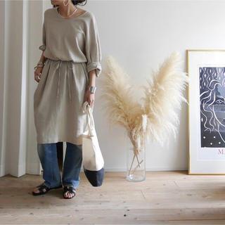 トゥデイフル(TODAYFUL)のargueアーギュー Linem-Cotton Vneck Dress(ひざ丈ワンピース)