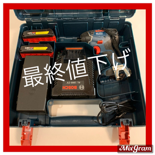 ボッシュ(BOSCH)の【新品未使用】ボッシュBOSCH インパクトドライバー バッテリー2個付き(工具)