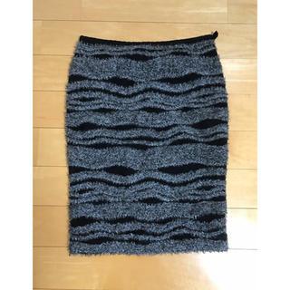 ルシェルブルー(LE CIEL BLEU)のルシェル タイトニットスカート(ひざ丈スカート)