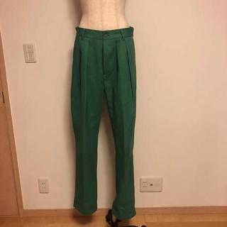 コモリ(COMOLI)のneat usa ニート 30 グリーン 緑 パンツ スラックス  (スラックス)