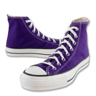 コンバース(CONVERSE)のCONVERSE コンバース ALL STAR J Hi 紫 パープル 27.5(スニーカー)