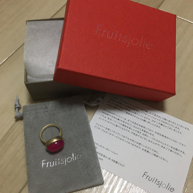 【美品】fruitsjolie  フリュイジョリ パープルカルセドニー 指輪 レディースのアクセサリー(リング(指輪))の商品写真