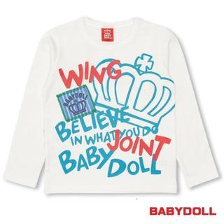 ベビードール(BABYDOLL)の337★セール★新品【ベビードール】80cm ロゴ王冠長袖TシャツロンT(Tシャツ)