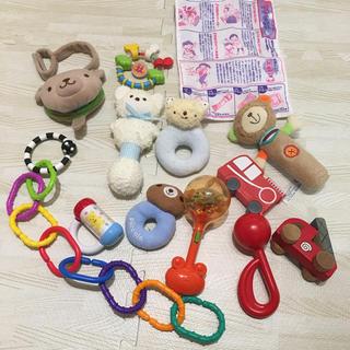 ミキハウス(mikihouse)の0歳 赤ちゃん おもちゃ13点セット ミキハウス、sassyなど(がらがら/ラトル)