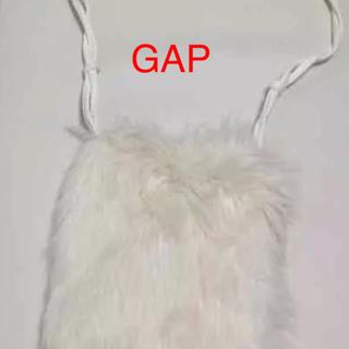 ギャップ(GAP)のGAP フェイクファーポシェットホワイト(ショルダーバッグ)