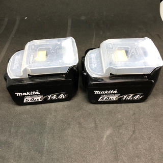 マキタ(Makita)のマキタ バッテリー 14.4v 5.0Ah  2個セット(バッテリー/充電器)