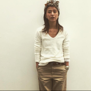 ファビアンルー(Fabiane Roux)のnowos Uネックカットソー(カットソー(長袖/七分))