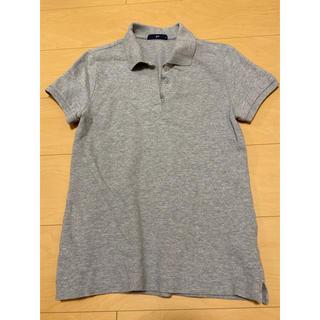 ジーユー(GU)のGU グレー 半袖ポロシャツ(ポロシャツ)