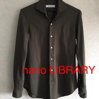 nano・universe - nano LIBRARY ナノユニバース 長袖シャツ  カーキ色 サイズS
