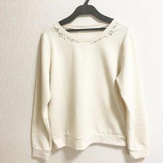 THE EMPORIUM - ビジュー付き セーター