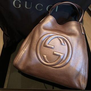 グッチ(Gucci)のGUCCI  SOHO 日本限定色 メタリックピンク(トートバッグ)
