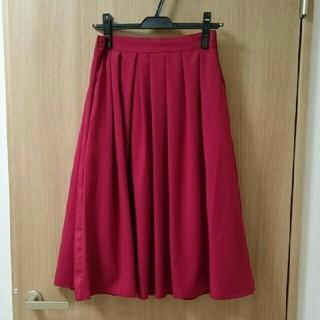 ロペ(ROPE)の【お値下げ】ロペ スカート 赤(ひざ丈スカート)