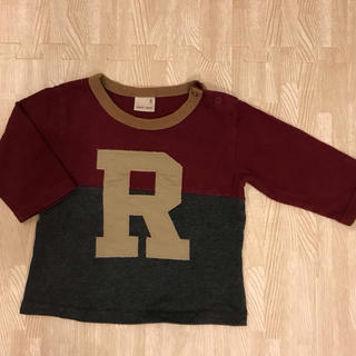 プティマイン(petit main)のプチマイン おしゃれロングティーシャツ80センチ ユニセックス(Tシャツ)