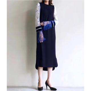 マメ(mame)のmame kurogouchi Silk Lame Print Dress(ロングワンピース/マキシワンピース)