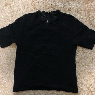ヘザー(heather)のHeather  ブラックレースTシャツ(Tシャツ(半袖/袖なし))