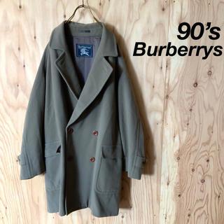 バーバリー(BURBERRY)の【美品】90's Burberrys ウール ロング チェスターコート L(チェスターコート)