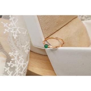 エメラルド ダイヤモンド リング K18 新品(リング(指輪))