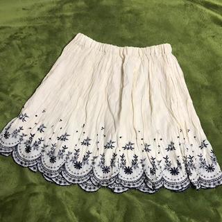 ジエンポリアム(THE EMPORIUM)のワールド 刺繍スカート(ひざ丈スカート)