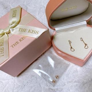 ザキッス(THE KISS)のTHE KISS ピンクゴールド ハートピアス(ピアス)