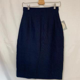 クリスチャンディオール(Christian Dior)の☆クリスチャン ディオール スカート  タイトスカート  ネイビー 36☆(ひざ丈スカート)