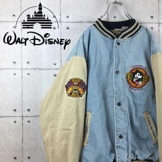 Disney - 【超激レア】ディズニー☆刺繍ミッキー デニムジャケット スタジャン ゆるだぼ
