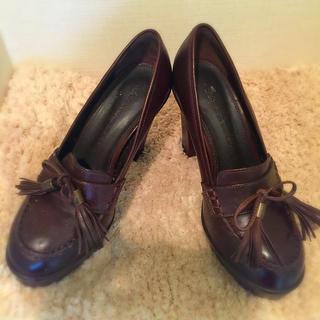 グレースコンチネンタル(GRACE CONTINENTAL)の❤︎超美品 タッセルヒールローファー❤︎(ローファー/革靴)