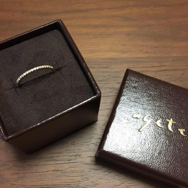 agete(アガット)のアガット リング ハーフエタニティ 10k レディースのアクセサリー(リング(指輪))の商品写真