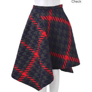 チェスティ(Chesty)のチェスティ ❤︎ ランダムチェック アシンメトリー スカート(ロングスカート)