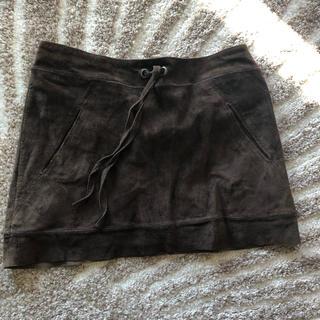 スタニングルアー(STUNNING LURE)のスタニングルアー スエードミニスカート 濃茶 サイズ36 美品(ミニスカート)