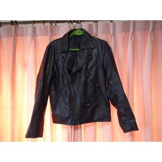 ジーユー(GU)のGUのライダージャケット(M) 黒!(ライダースジャケット)
