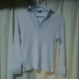 コムサイズム(COMME CA ISM)のCOMMECAISM 長袖カットソー Mサイズ コムサイズム 長袖ポロシャツ 服(Tシャツ/カットソー(七分/長袖))