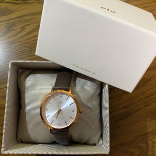 エテ(ete)のete ボーイフレンドウォッチ ダイヤモンド×レザーベルト 腕時計 ♡美品(腕時計)