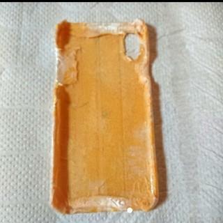 アジアン好きに!イエローのチャイナサテン PhoneXケース ハンドメイド(iPhoneケース)