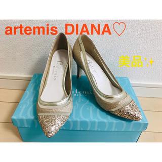 ダイアナ(DIANA)のartemis DIANA ゴールドグリッターヒール(ハイヒール/パンプス)