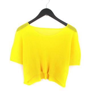 プリーツプリーズイッセイミヤケ(PLEATS PLEASE ISSEY MIYAKE)のISSEY MIYAKE プリーツプリーズ イッセイミヤケ カットソー 3 黄色(カットソー(半袖/袖なし))