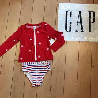 babyGAP - ラスト1点!新品★ 80cm gap ラッシュガード 星 赤