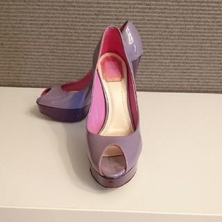 クリスチャンディオール(Christian Dior)のChristian Dior プラットホームパンプス ディオール 紫 ピンク(ハイヒール/パンプス)