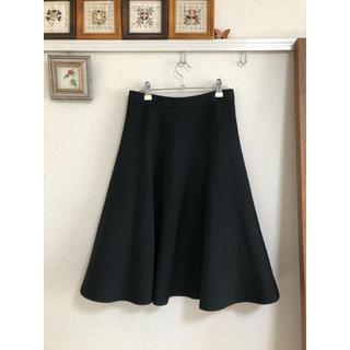 ルシェルブルー(LE CIEL BLEU)の【ルシェルブルー】ひざ丈スカート 黒(ひざ丈スカート)