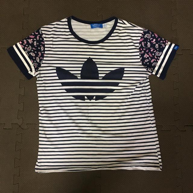 adidas(アディダス)のアディダスオリジナル Tシャツボーダー レディースのトップス(Tシャツ(半袖/袖なし))の商品写真