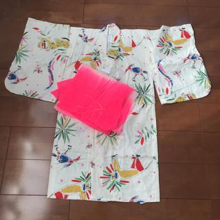 【110】帯付き子供浴衣