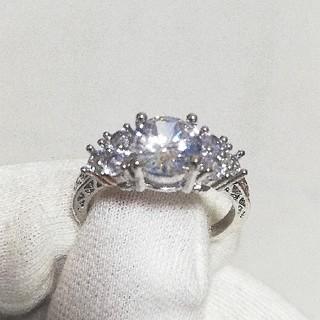 ホワイトサファイア リング 指輪 レディース メンズ パワーストーン(リング(指輪))