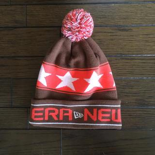ニューエラー(NEW ERA)の【美品】NEW ERA*ニューエラ ポンポンニット帽(ニット帽/ビーニー)