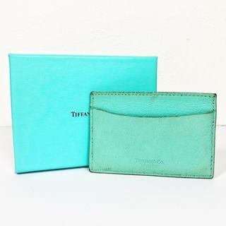 ティファニー(Tiffany & Co.)の【ティファニー】レザーカードケース(名刺入れ/定期入れ)