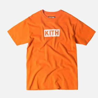 KITH BOX LOGO Tシャツ Orange(Tシャツ/カットソー(半袖/袖なし))